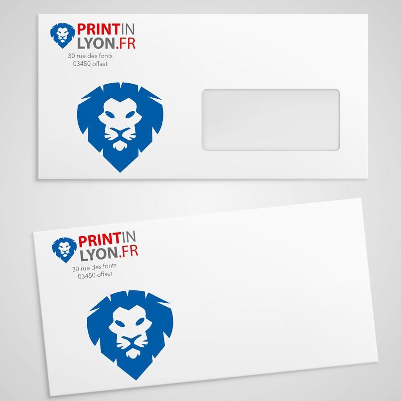 enveloppe dl avec ou sans fenetre 110x220mm printinlyon
